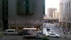 Jeddah. A view from a mall in jeddah Royalty Free Stock Photo