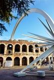 Jedem Jahr zur Weihnachtszeit, in Verona-Stadt wird ein Komet zusammengebaut Stockfotografie