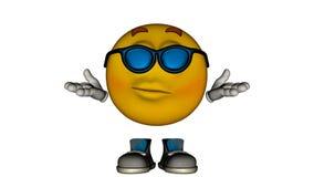 Jeden żółty uśmiechu facet z butami i twarzą Obraz Royalty Free