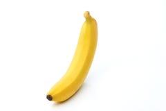 Jeden banan odizolowywający na bielu Obrazy Stock