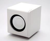 jeden biały głośnikowy Zdjęcia Stock