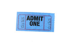 jeden bilet Fotografia Royalty Free