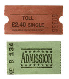jeden bilet do przyjęcia opłaty za przejazd Zdjęcie Royalty Free