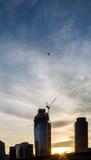 Jeden Blackfriars w Londyński w budowie z żurawiem na wierzchołku ja Fotografia Stock