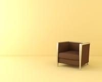 Jeden brown krzesło Zdjęcia Stock