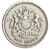 Jeden brytyjska funtowa moneta Fotografia Royalty Free