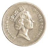 Jeden brytyjska funtowa moneta Obraz Royalty Free