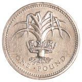 Jeden brytyjska funtowa moneta Zdjęcia Royalty Free