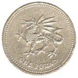 Jeden brytyjska funtowa moneta Obrazy Stock