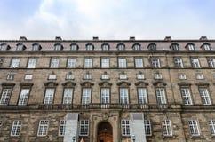 Jeden budynek Christiansborg pałac zdjęcie royalty free