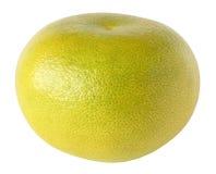 Jeden cała cytrusa sweetie owoc odizolowywająca na bielu z ścinek ścieżką Fotografia Royalty Free
