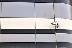 Jeden CCTV kamery bezpieczeństwa na ścianie zdjęcia royalty free