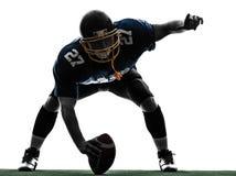 Centrum futbol amerykański gracza mężczyzna sylwetka zdjęcia stock