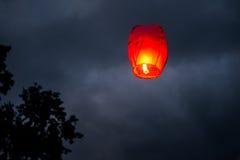 Jeden Chiński lampion obrazy stock