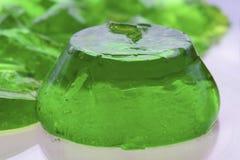 Jeden cukierki zielona galareta Obrazy Stock