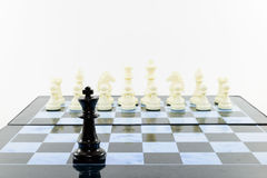 Jeden czerń i biel szachowi Obrazy Royalty Free