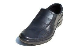 Jeden czerni buty dla mężczyzna Zdjęcia Royalty Free