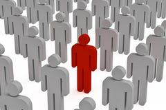 Jeden czerwoni ludzie Zdjęcia Stock
