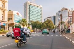 Jeden czyści miasta w Afryka, Kigali Fotografia Stock