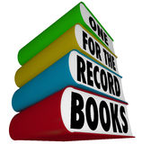 Jeden dla księga rekordów występu łamania prędkości Najlepszy rezultatów Zdjęcia Royalty Free