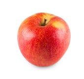Jeden dojrzały świeży jabłko odizolowywający na białym tle obrazy royalty free