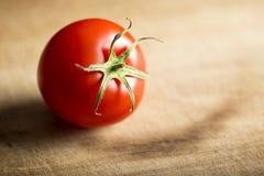 Jeden Dojrzały pomidor Zdjęcie Stock