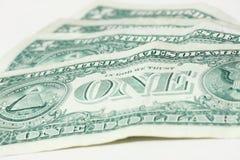 Jeden dolar - pieniądze Obrazy Royalty Free