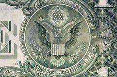 jeden dolar rachunki Zdjęcia Royalty Free