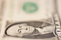 jeden dolar rachunki Obrazy Stock