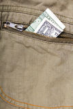 jeden dolar rachunki Zdjęcie Royalty Free