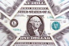 jeden dolar rachunki tło Fotografia Stock