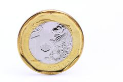 Jeden dolara Singapur moneta Obrazy Stock