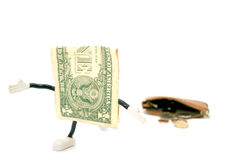 Jeden dolara uciekać Zdjęcia Stock