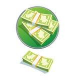 Jeden dolarowa sterta Obraz Stock