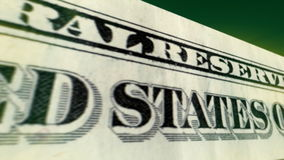 Jeden Dolarowego Bill 3D ruch Obraz Royalty Free