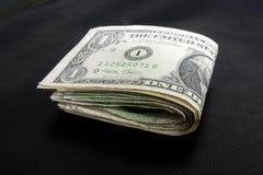 Jeden dolarowego rachunku fałd Obraz Stock