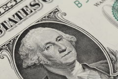 Jeden dolarowy banknot Obrazy Royalty Free