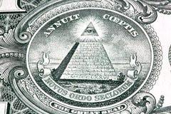 Jeden dolarowy rachunek Zdjęcia Stock