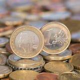 Jeden euro mennicze holandie Zdjęcia Royalty Free