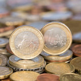Jeden euro menniczy Slovenia Zdjęcia Stock