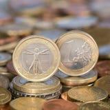 Jeden euro menniczy Włochy Obraz Royalty Free