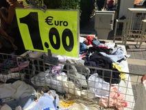 Jeden euro metka Obrazy Royalty Free