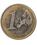 Jeden euro moneta Zdjęcie Stock