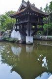Jeden filar pagoda w Hanoi, Wietnam Obrazy Royalty Free