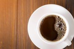 Jeden filiżanka biała kawa Zdjęcia Royalty Free