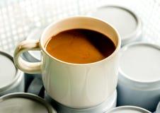 Jeden filiżanka kawy Zdjęcia Royalty Free