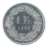 Jeden frank zdjęcia stock