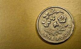 Jeden 1 Funtowa Brytyjska waluty Sterling moneta Obrazy Stock