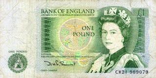 Jeden funtowy banknot Fotografia Royalty Free