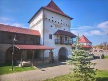 Jeden góruje otaczający średniowiecznego kasztel Targ Mures, Rumunia zdjęcie stock